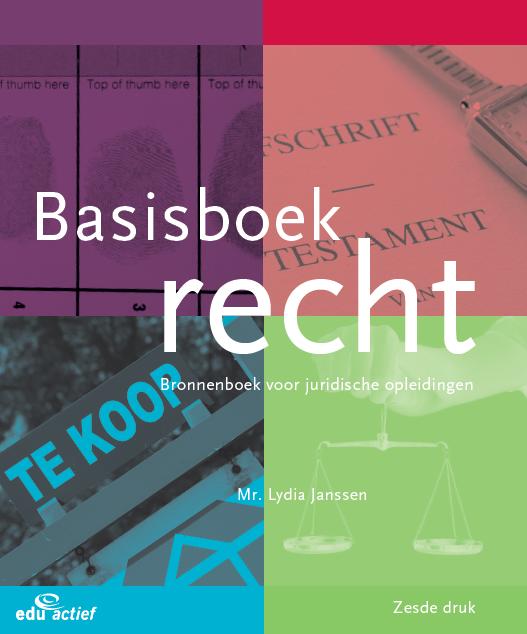 Afbeelding van Basisboek Recht