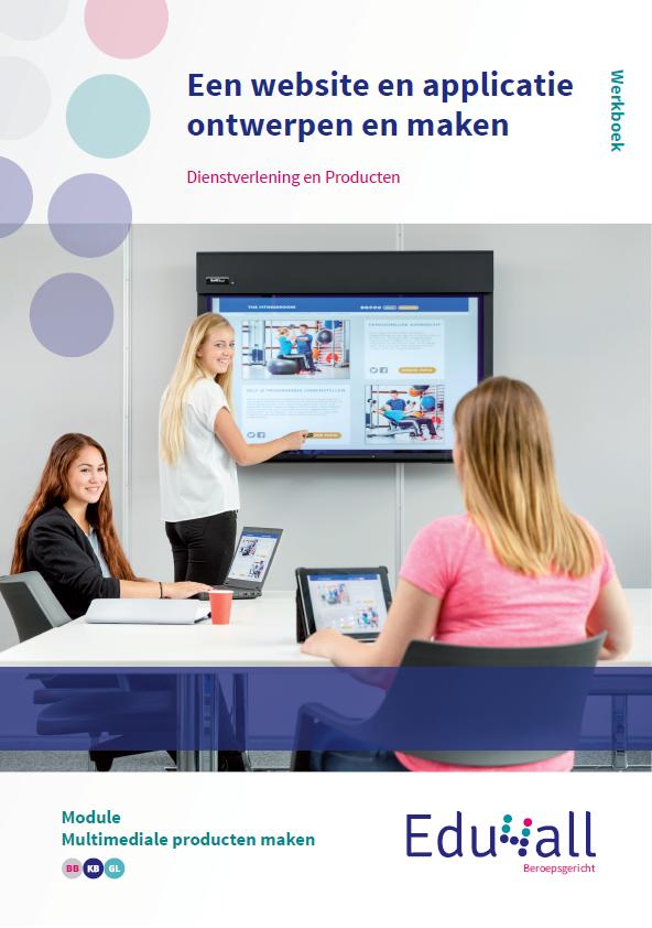 Afbeelding van Een website en applicatie ontwerpen en maken | module Multimediale producten maken