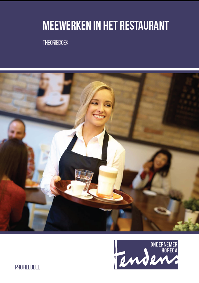Afbeelding van Meewerken in het restaurant - theorieboek   Editie 2018