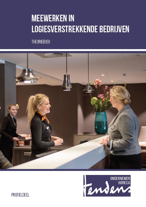 Afbeelding van Meewerken in logiesverstrekkende bedrijven - theorieboek | Editie 2018