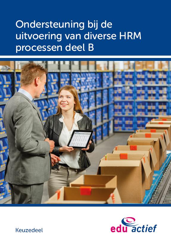 Afbeelding van Keuzedeel Ondersteuning bij de uitvoering van diverse  HRM processen deel B   combipakket