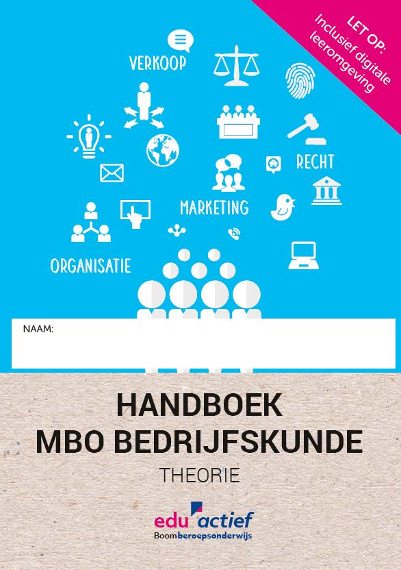 Afbeelding van Handboek MBO Bedrijfskunde Theorie | combipakket