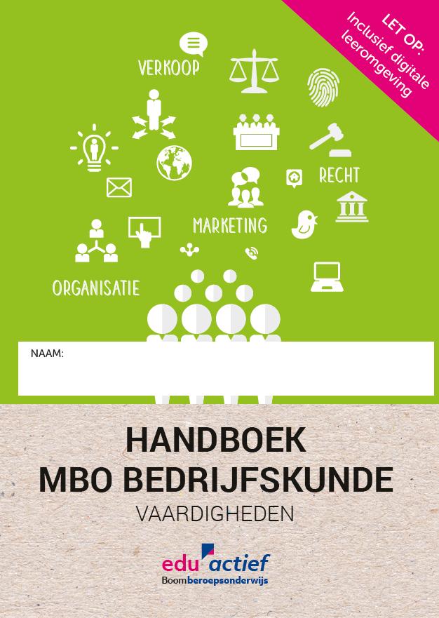 Afbeelding van Handboek MBO Bedrijfskunde Vaardigheden   combipakket