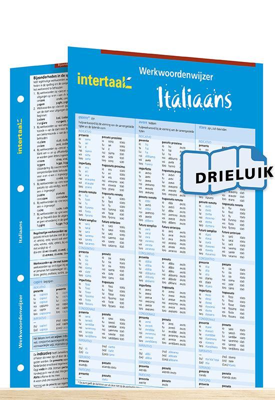 Afbeelding van Werkwoordenwijzer Italiaans uitklapkaart