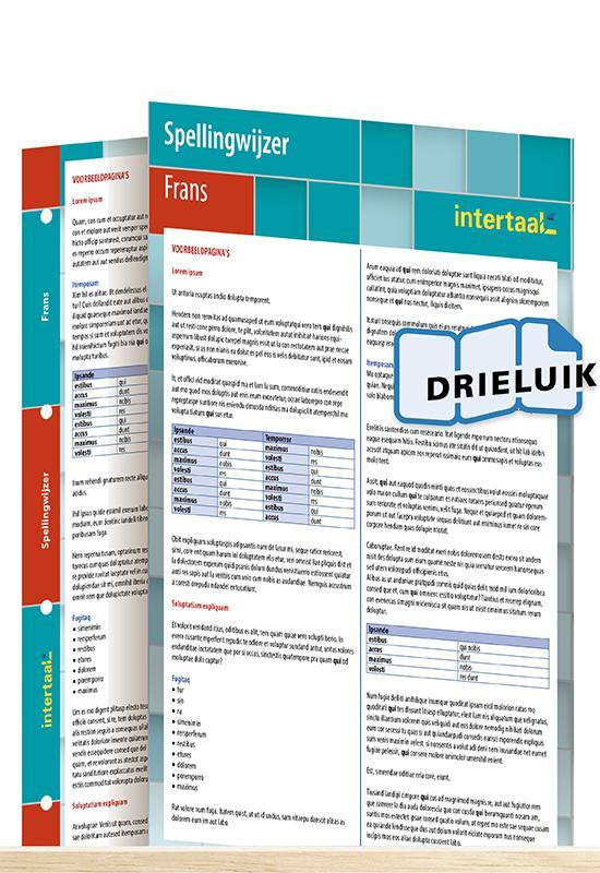 Afbeelding van Spellingwijzer Frans uitklapkaart
