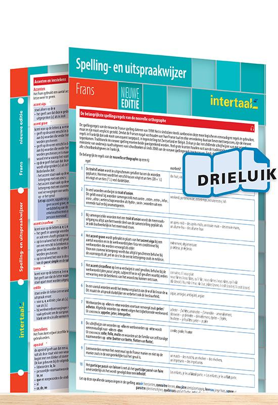Afbeelding van Spelling- en uitspraakwijzer Frans - nieuwe editie uitklapkaart