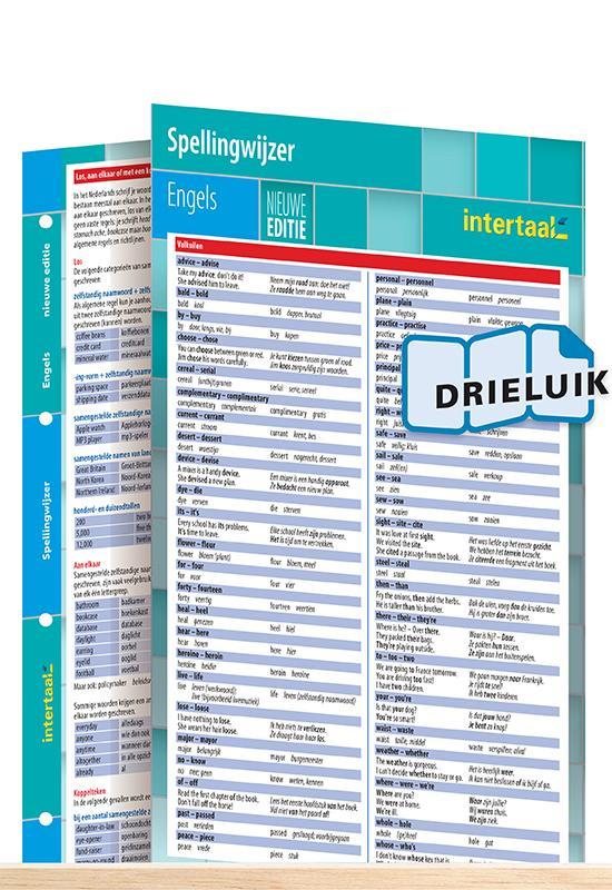 Afbeelding van Spellingwijzer Engels - nieuwe editie uitklapkaart