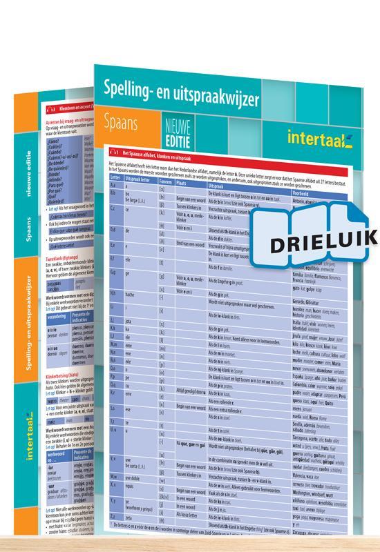Afbeelding van Spelling- en uitspraakwijzer Spaans - nieuwe editie uitklapkaart