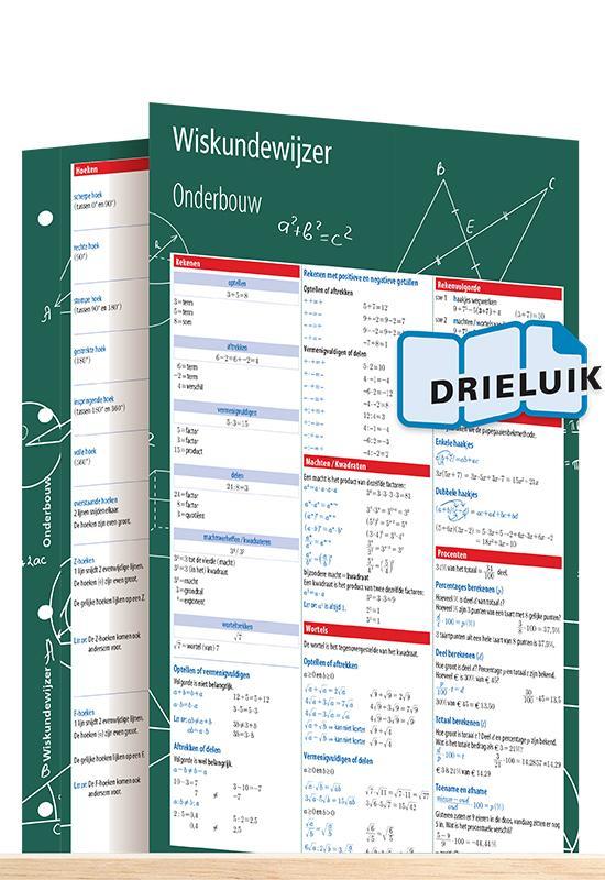 Afbeelding van Wiskundewijzer onderbouw uitklapkaart