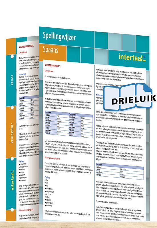 Afbeelding van Spellingwijzer Spaans uitklapkaart