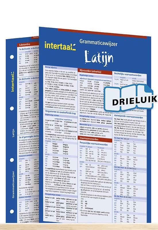 Afbeelding van Grammaticawijzer Latijn uitklapkaart