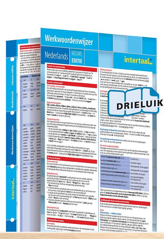 Afbeelding van Werkwoordenwijzer Nederlands - nieuwe editie uitklapkaart