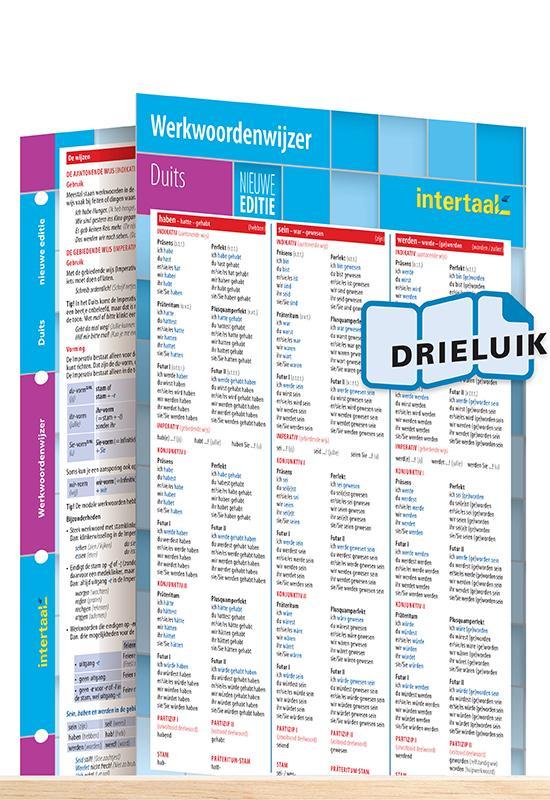 Afbeelding van Werkwoordenwijzer Duits - nieuwe editie uitklapkaart