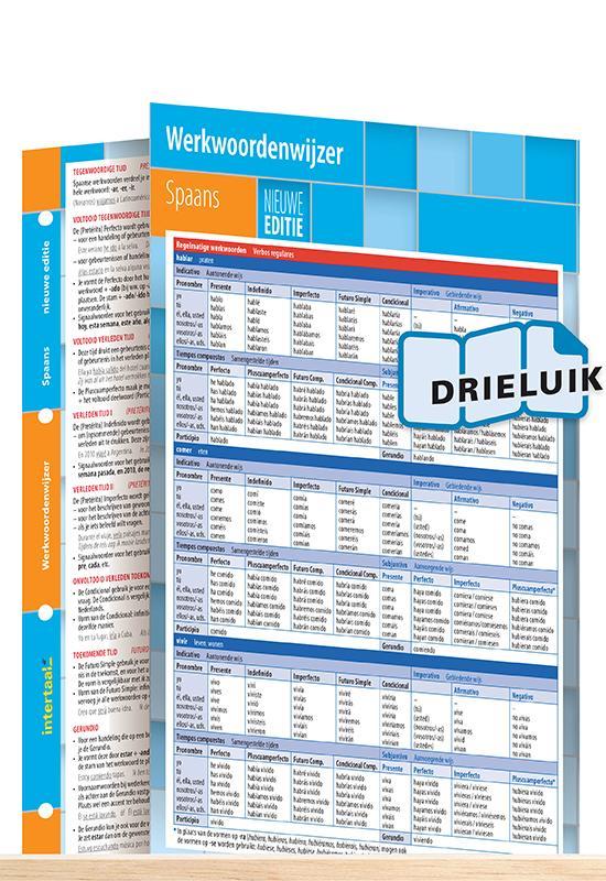 Afbeelding van Werkwoordenwijzer Spaans - nieuwe editie uitklapkaart
