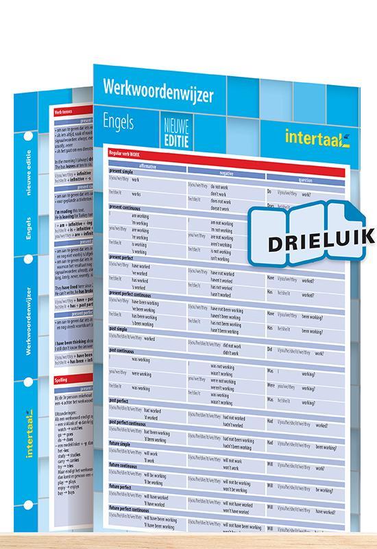Afbeelding van Werkwoordenwijzer Engels - nieuwe editie uitklapkaart