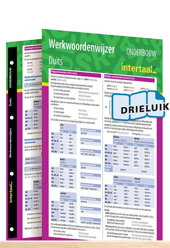Afbeelding van Werkwoordenwijzer Duits onderbouw uitklapkaart