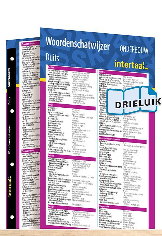 Afbeelding van Woordenschatwijzer Duits onderbouw uitklapkaart