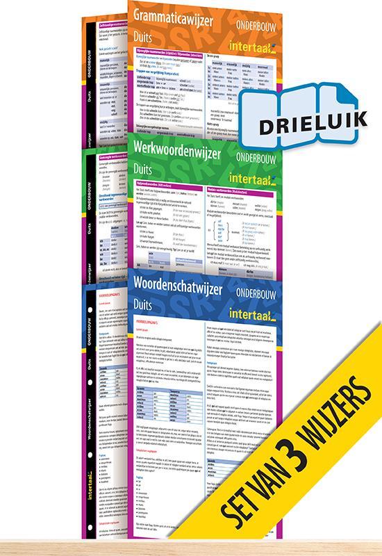 Afbeelding van Onderbouwwijzers Duits (set van 3) uitklapkaarten