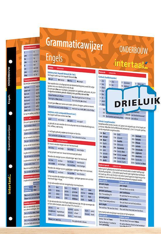 Afbeelding van Grammaticawijzer Engels onderbouw uitklapkaart
