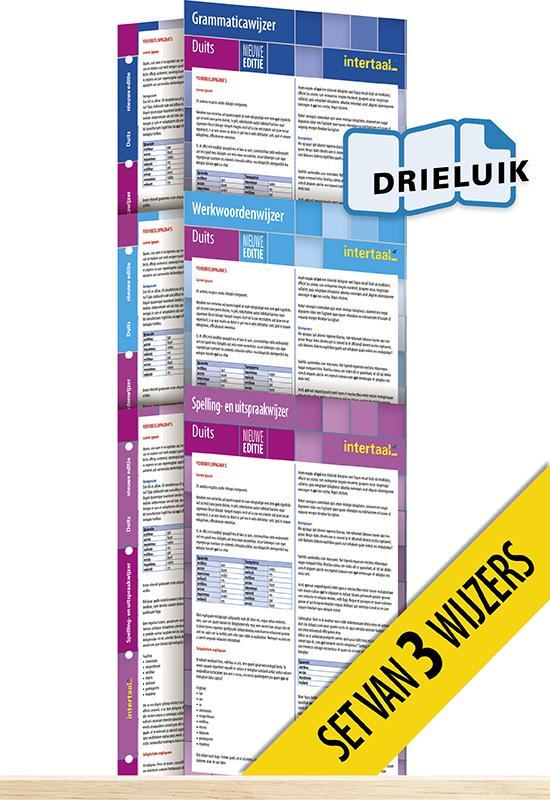 Afbeelding van Wijzers Duits - nieuwe editie (set van 3) uitklapkaarten