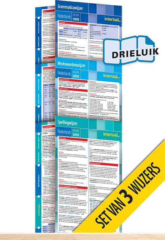 Afbeelding van Wijzers Nederlands - nieuwe editie (set van 3) uitklapkaarten