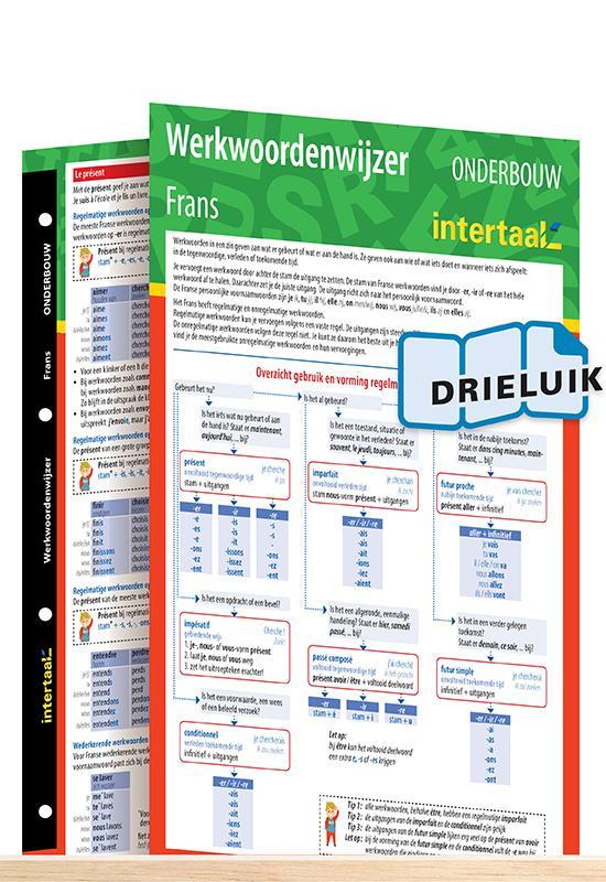 Afbeelding van Werkwoordenwijzer Frans onderbouw uitklapkaart