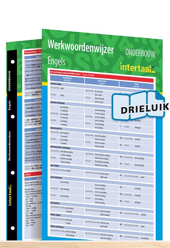 Afbeelding van Werkwoordenwijzer Engels onderbouw uitklapkaart