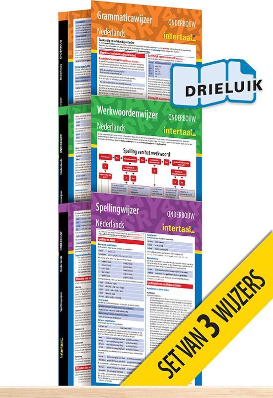 Afbeelding van Onderbouwwijzers Nederlands (set van 3) uitklapkaarten