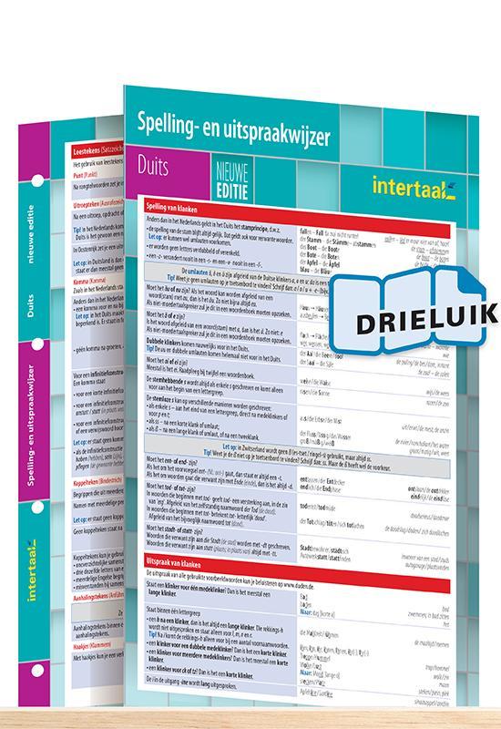 Afbeelding van Spelling- en uitspraakwijzer Duits - nieuwe editie uitklapkaart