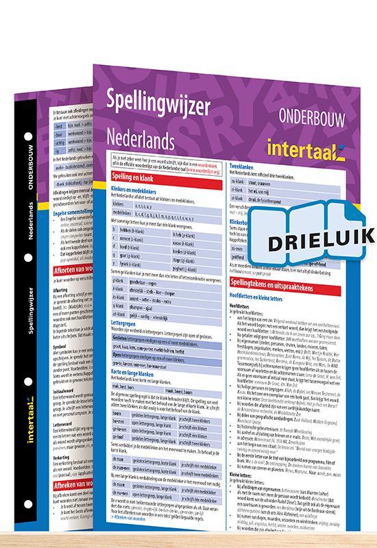 Afbeelding van Spellingwijzer Nederlands onderbouw uitklapkaart
