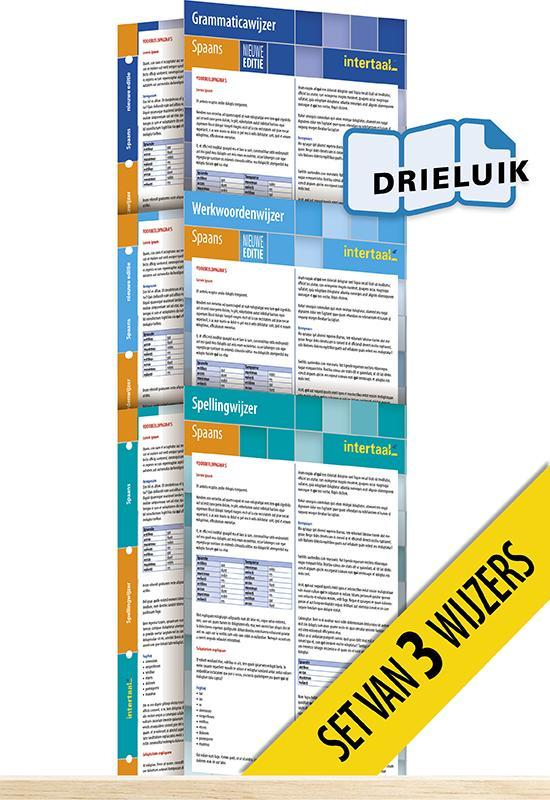 Afbeelding van Wijzers Spaans - nieuwe editie (set van 3) uitklapkaarten
