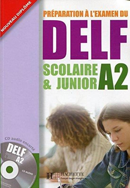Afbeelding van Préparation à l'examen du DELF Scolaire et Junior A2 livre + cd-audio