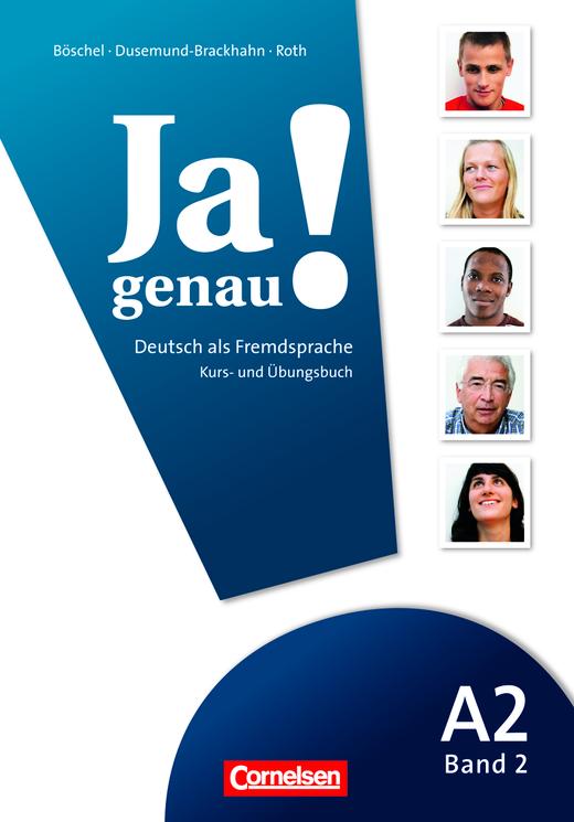 Afbeelding van Ja genau! A2: Band 2 Kurs-/Übungsbuch + Lösungen + Audio-CD