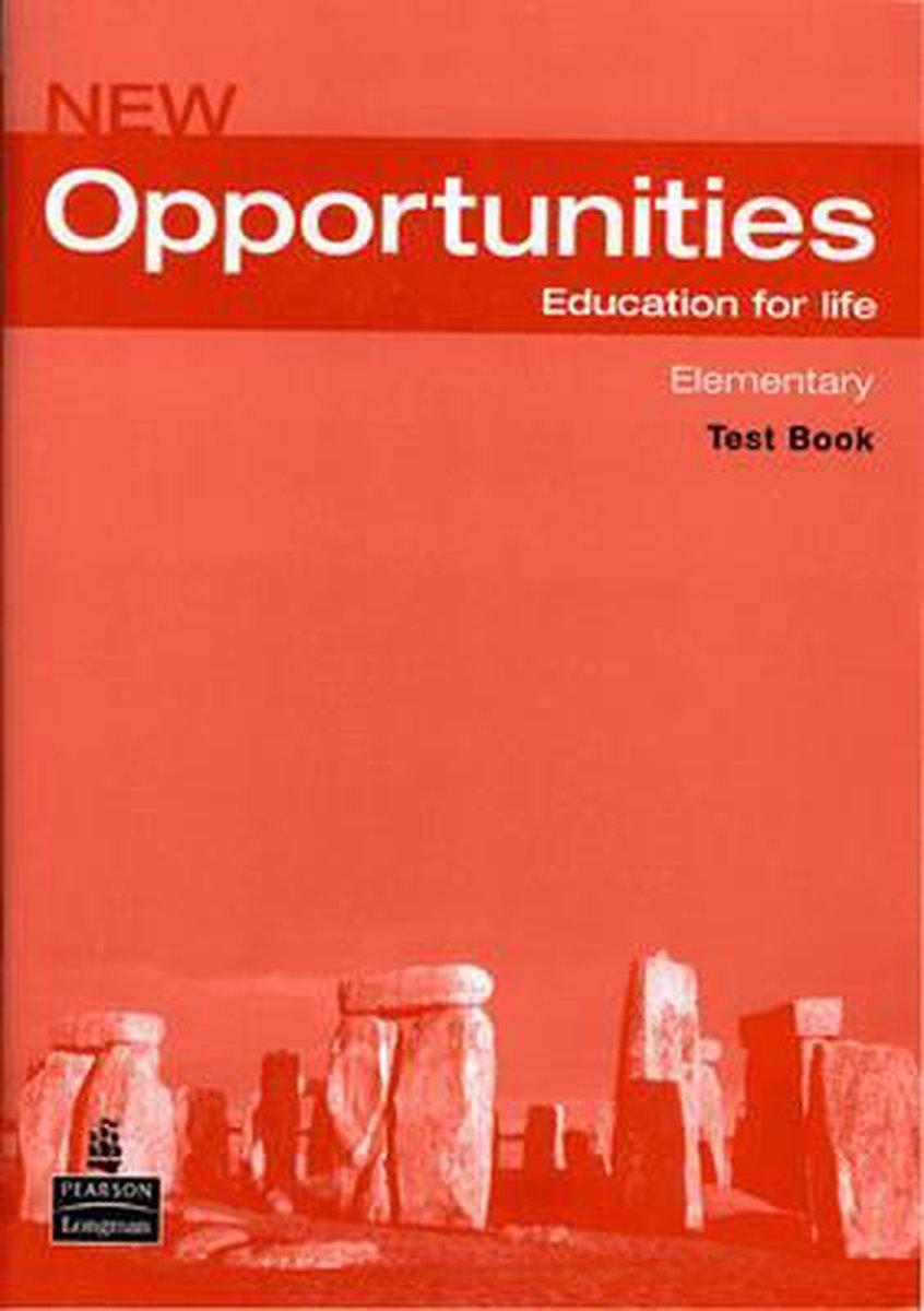 Afbeelding van New Opportunities - Elementary test book + audio-cd
