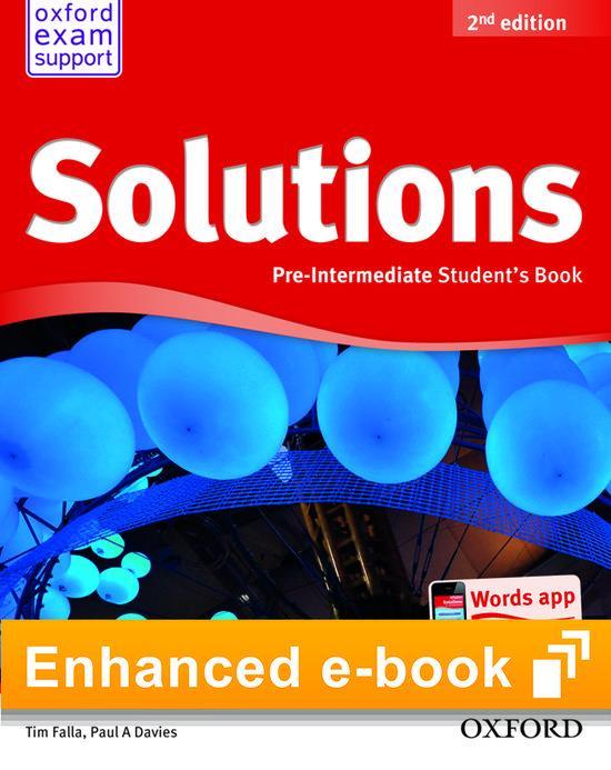 Afbeelding van Solutions second edition - Pre-intermediate (olb) student's e-book access code