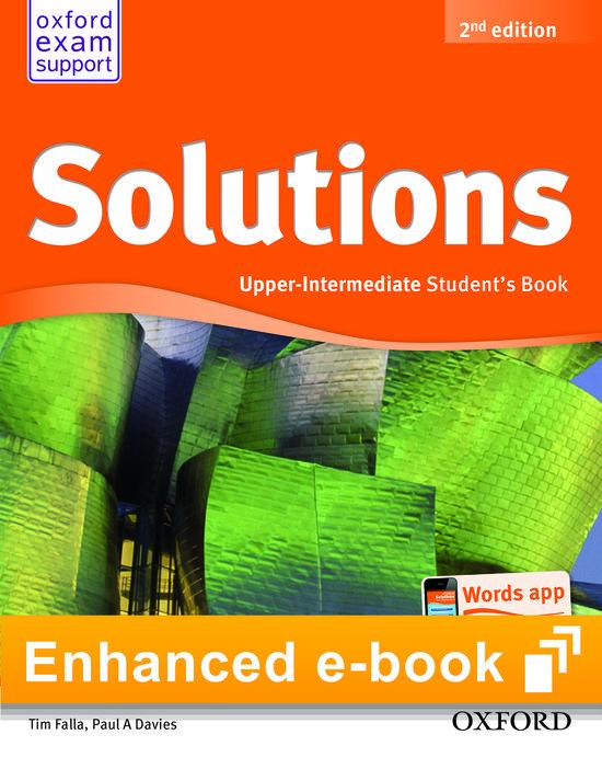 Afbeelding van Solutions second edition - Upper-intermediate (olb) student's e-book access code
