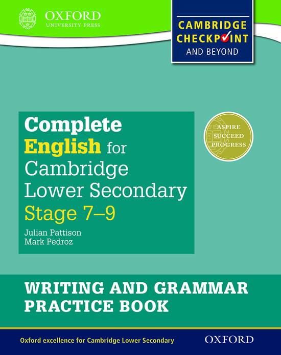 Afbeelding van Complete English for Cambridge Secondary 1: For Cambridge Checkpoint and Beyond writing and grammar pratice book 7-9