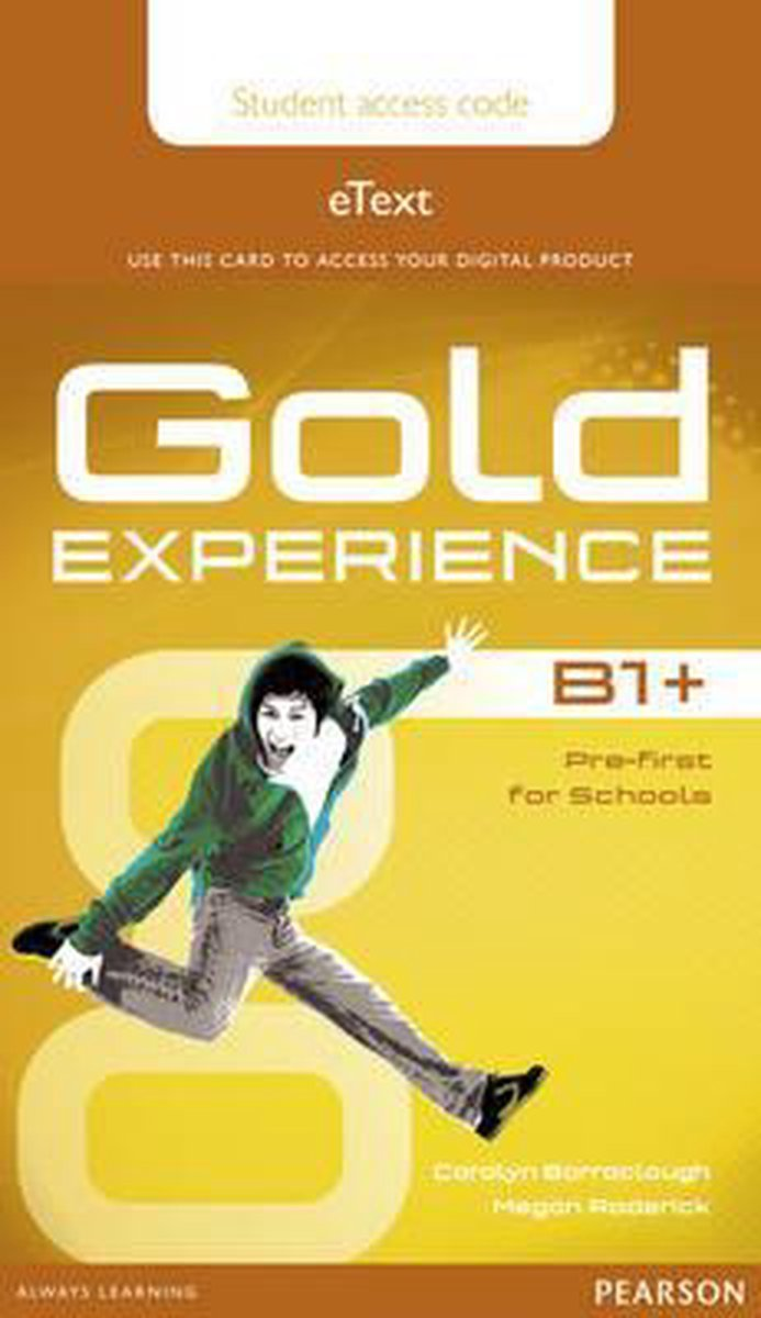 Afbeelding van Gold Experience B1+ etext student access card