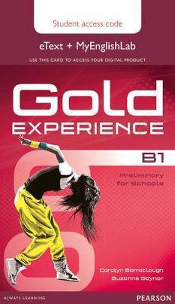 Afbeelding van Gold Experience B1 etext&MyEnglishLab student access card