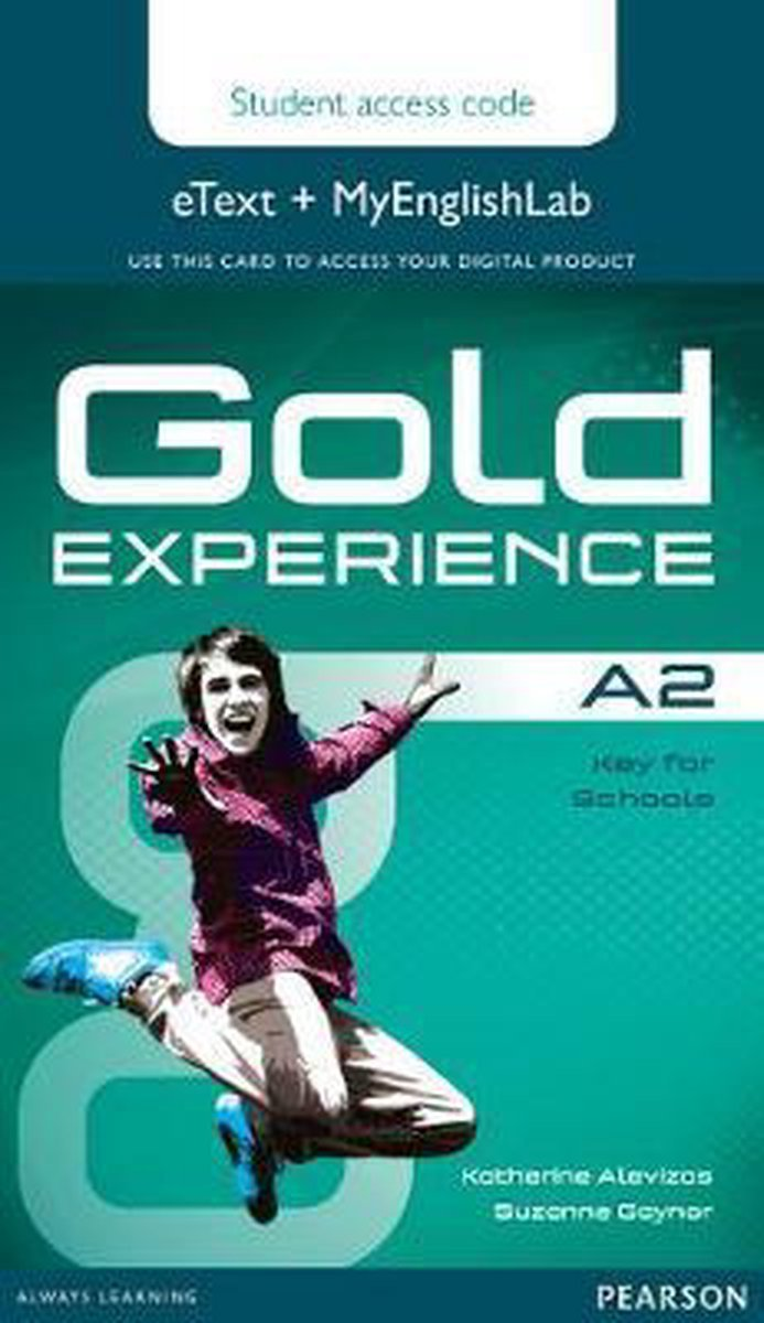 Afbeelding van Gold Experience A2 etext&MyEnglishLab student access card