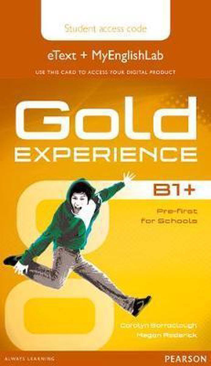 Afbeelding van Gold Experience B1+ Student eText + MyEnlishLab access card