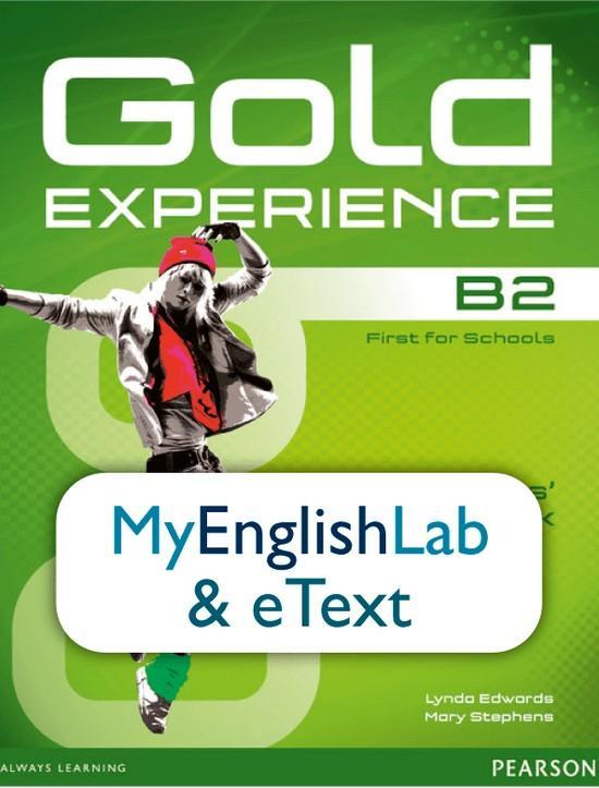Afbeelding van Gold Experience B2 etext&MyEnglishLab student access card