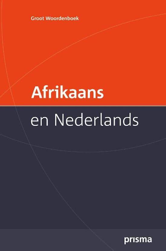 Afbeelding van Prisma groot woordenboek Afrikaans en Nederlands