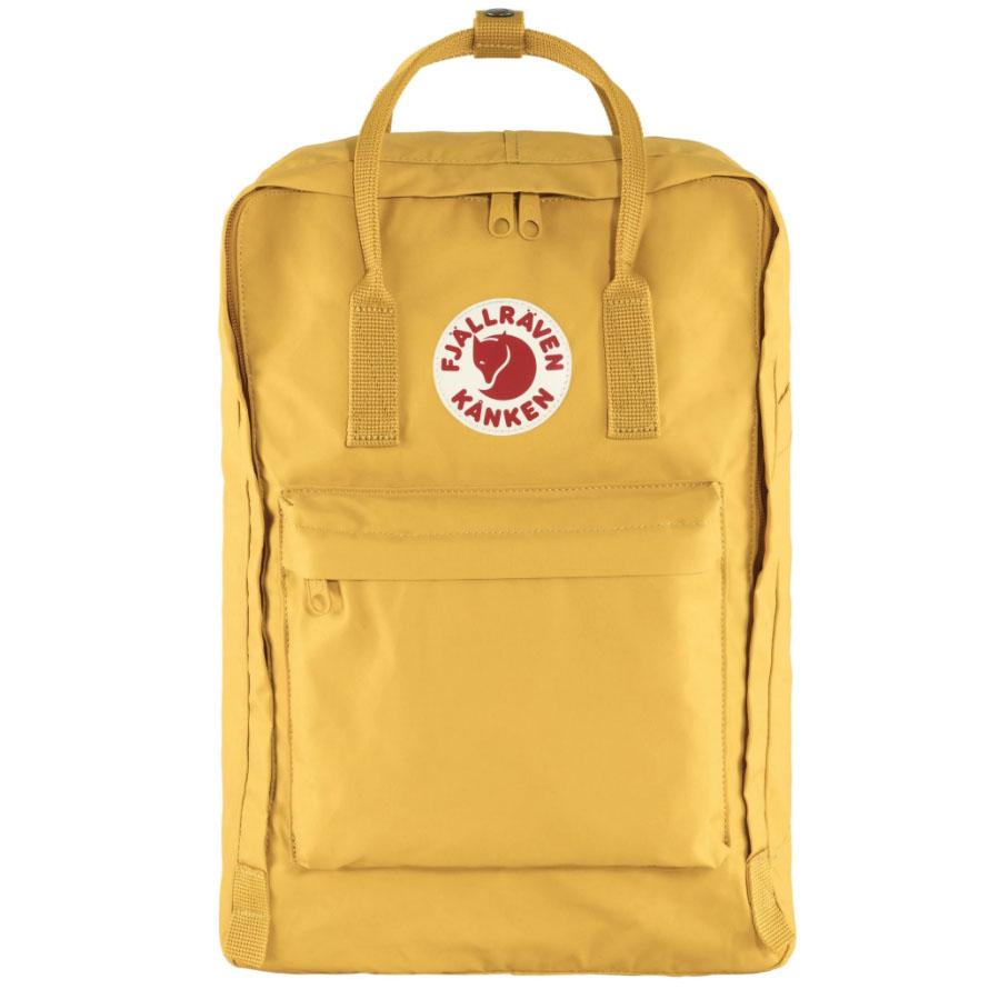 """Hippe rugzak met laptopvak 17"""" vanFjällräven uit de Kånken serie. Deze rugzak van Fjällräven is gemaakt van super sterk stof waarvan het materiaal opzwelt wanneer het nat wordt, hierdoor wordt de tas van Fjällräven waterafstotend. Ook super handig is dat in elke Fjällräven rugzak een uitneembare rugpand zit wat je kan gebruiken als kussentje om op te zitten.Een Kånken rugzak is een ideale schooltas. Dat komt omdat deKånken een mooie functionele rugzak is die zeer lang meegaat."""