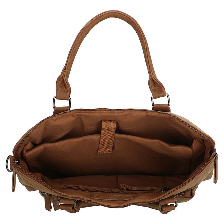 """Mooie schoudertas / handtas van Enrico Benetti uit de Nouméa serie. Deze prachtige tas is gemaakt van mooi kunstleer. De tas kunt u dragen met de 2 handvatten of met de lange verstelbare en afneembare schouderband, doordat de schouderband verstelbaar is kunt de tas altijd op de gewenste lengte dragen. Deze mooie Enrico Benetti tas heeft een goede vakindeling. De tas beschikt over een ruim hoofdvak, 2 voorvakken en een achtervak met ritssluiting. Intern vindt u een gewatteerd laptopvak 15"""", insteekvakje, een smartphonevakje en een ritsvak. Door deze goede vakindeling kunt u gemakkelijk al uw spullen gescheiden houden."""