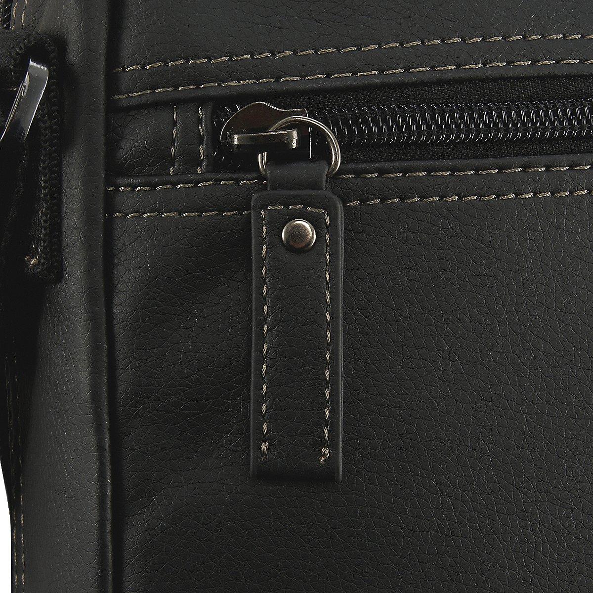 """Echt leren business schoudertas van Chesterfield geschikt voor A4 formaat. Deze veelzijdige tas beschikt over een gewatteerd laptopvak 15"""" in het hoofdvak, het laptopvak sluit met klittenband. Daarnaast zit in het hoofdvak met ritssluiting een tabletvak, 2 ritsvakken, penvakjes, een smartphone vakje en 2 steekvakjes. Naast het hoofdvak heeft de tas veel opbergmogelijkheden, 2 voorvakken met magneetsluiting, 3 voorvakken met ritssluiting en een achtervak met ritssluiting."""