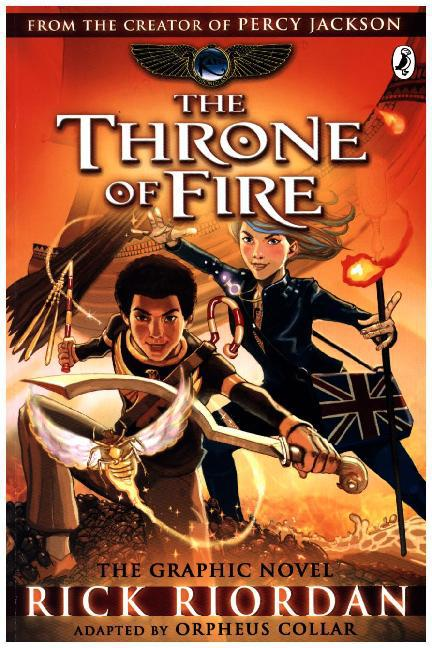 Afbeelding van The Throne of Fire: The Graphic Novel : The Kane Chronicles Bk. 2