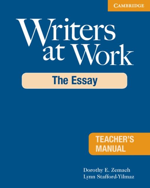 Afbeelding van Writers at Work: The Essay