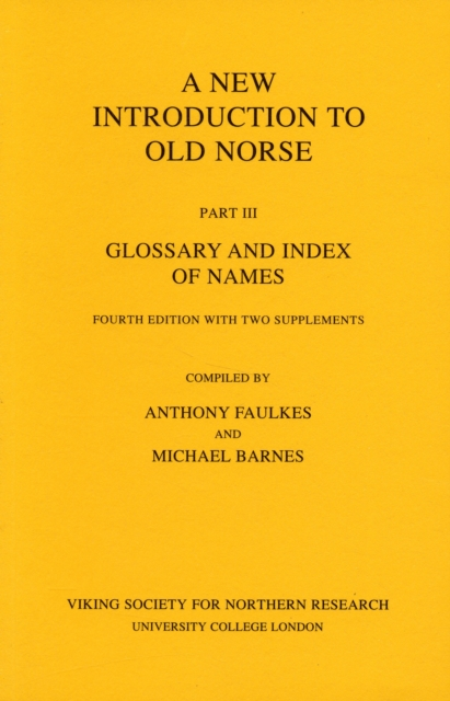 Afbeelding van A New Introduction to Old Norse, Clossary and Index of Names with 2 Supplements