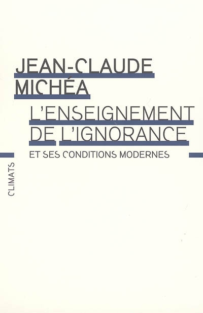 Afbeelding van L'enseignement de l'ignorance et ses conditions modernes